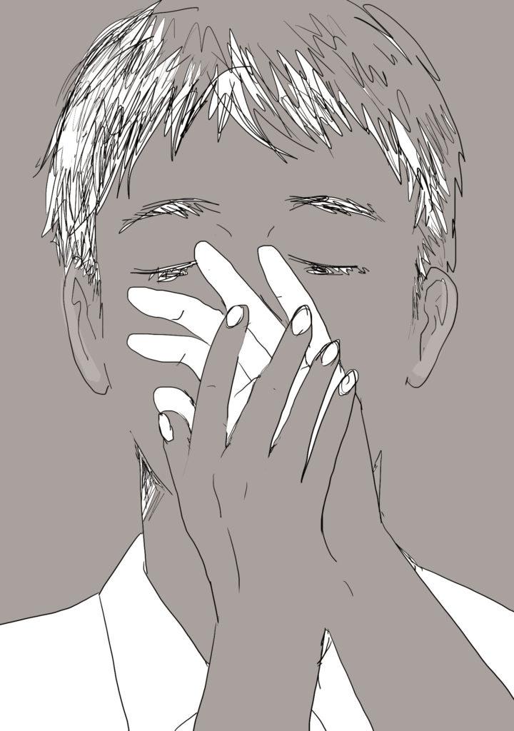 「手の甲をすごい見る」 2018年7月作成