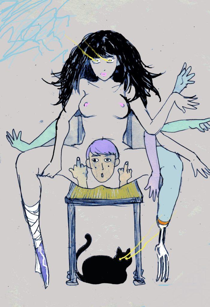 「銀のスプーン」 2013年7月作成 (WEB小説:「煩悩サンスクリット」挿絵)