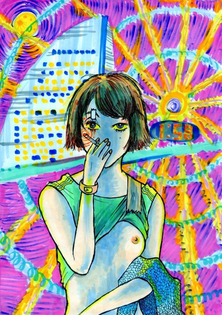 「横浜午前2時」 2013年8月作成 (WEB小説:「煩悩サンスクリット」挿絵)