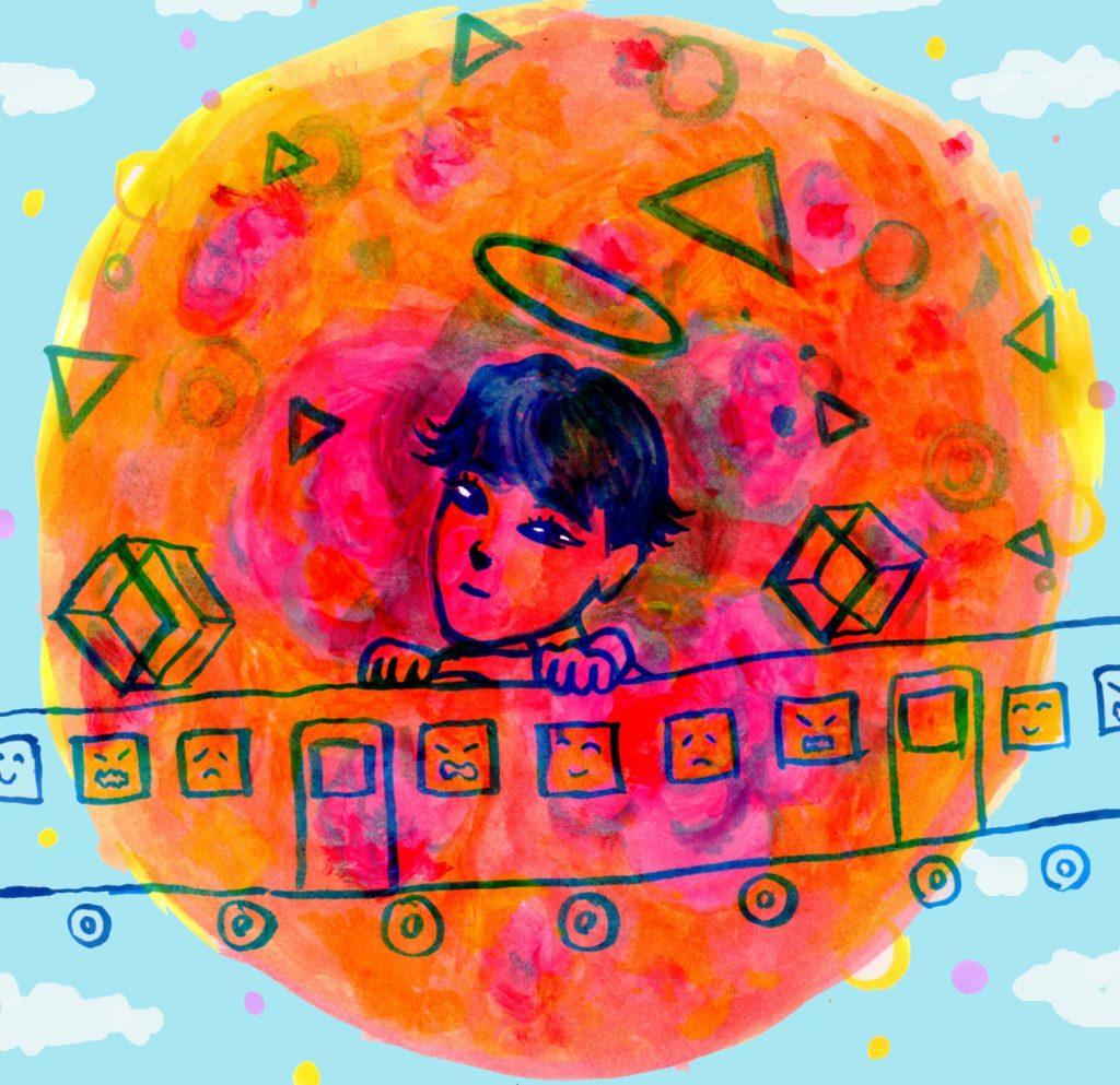 「ピクニック」 2014年1月作成 (WEB小説:「煩悩サンスクリット」挿絵)