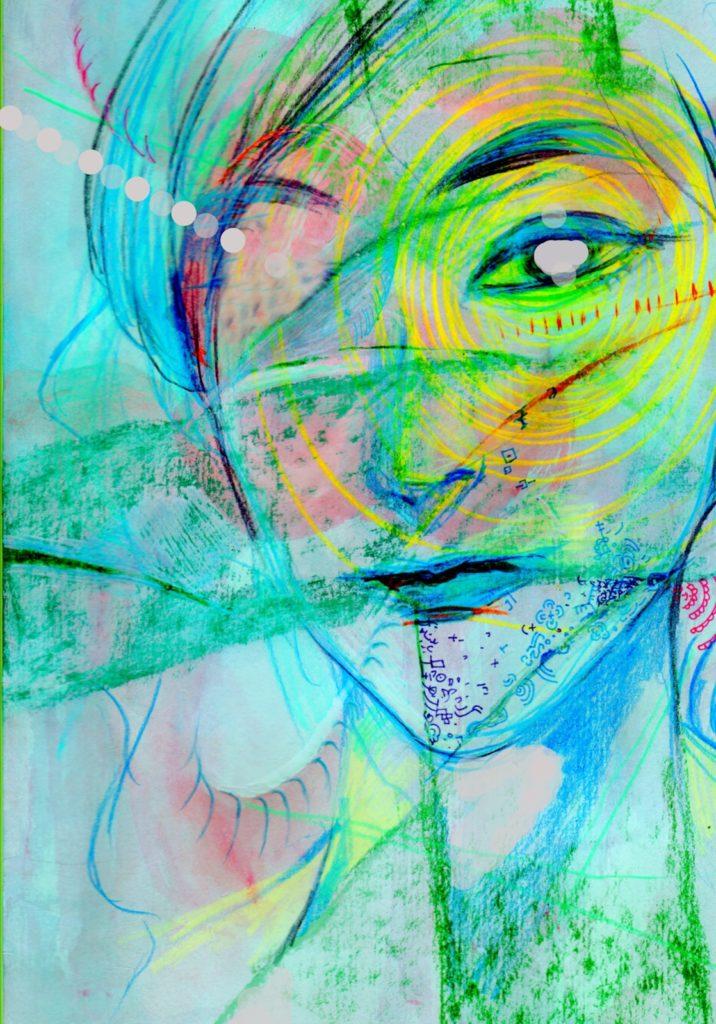 「冷たい蠕動運動」 2014年3月作成 (WEB小説:「煩悩サンスクリット」挿絵)