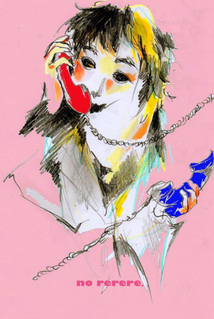 「電話」 2014年5月作成 (WEB小説:「煩悩サンスクリット」挿絵)