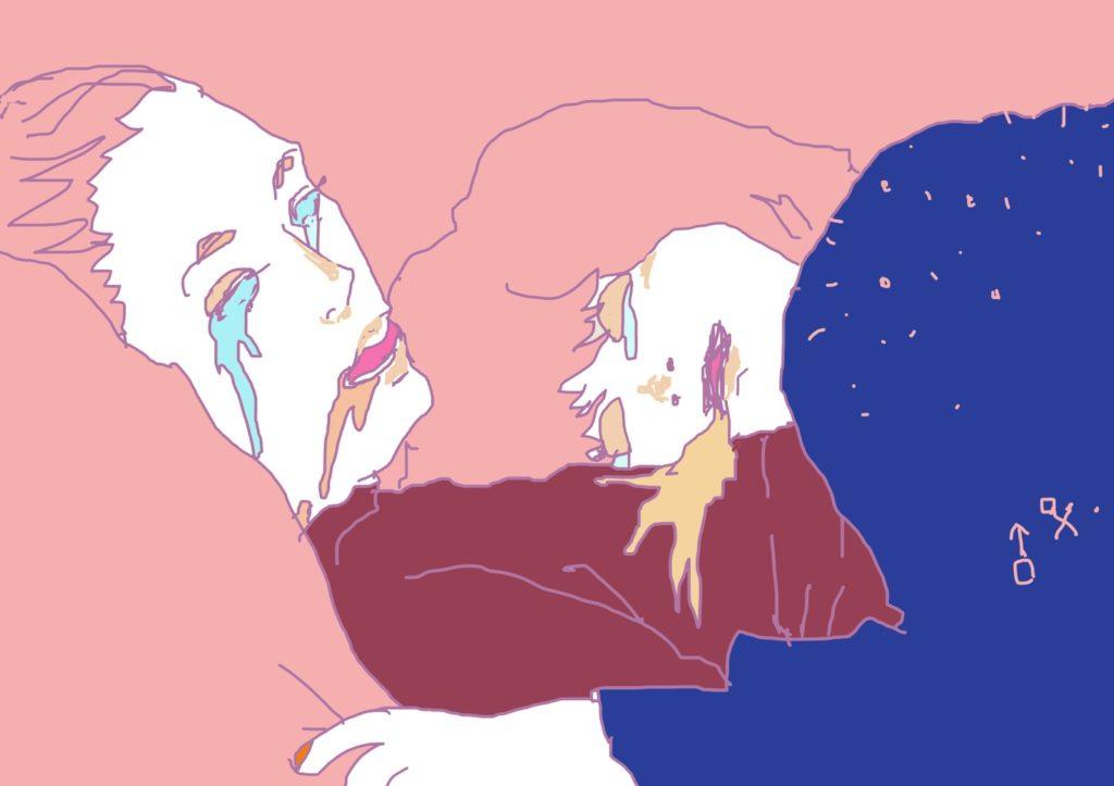 「お願いここにいて」 2014年10月作成 (WEB小説:「煩悩サンスクリット」挿絵)