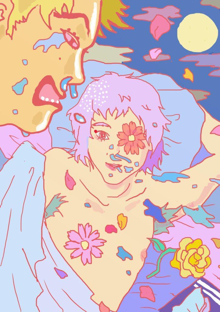 「花粉のエロス」 2015年2月作成 (演劇キック:「小野寺ずるのお散歩エロジェニック」連載イラスト)