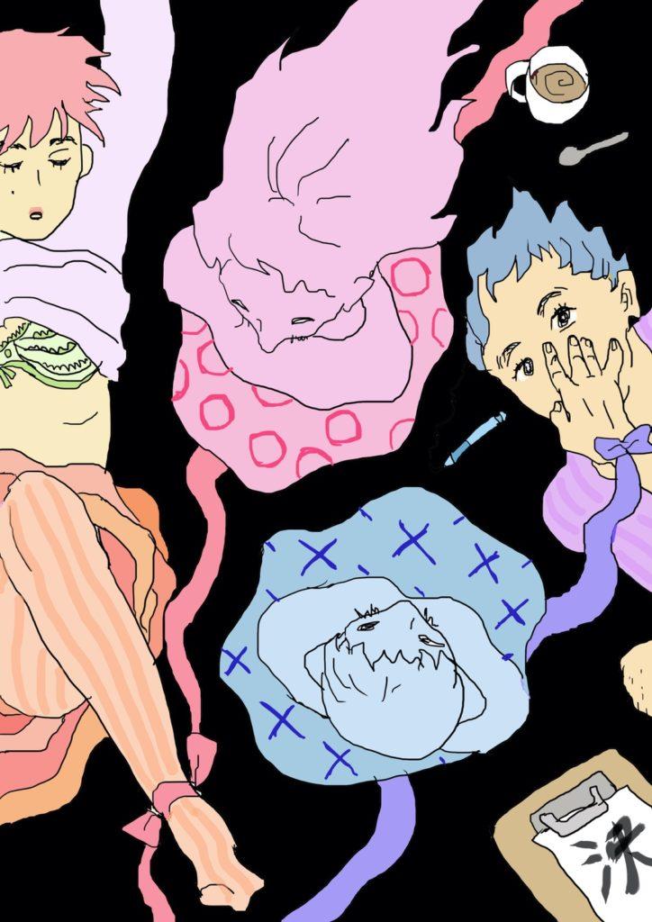 「○×ゲーム」 2015年2月作成 (WEB小説:「煩悩サンスクリット」挿絵)