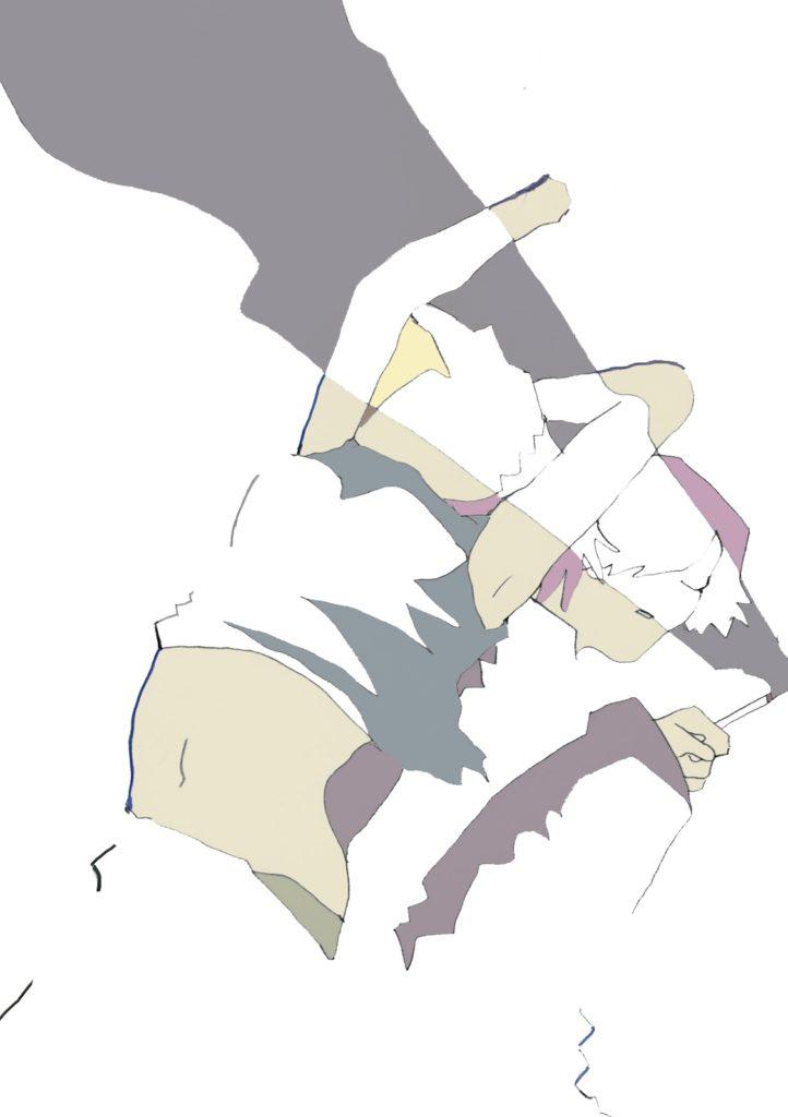 「フラッシュ!スモーキン!」 2015年4月作成 (WEB小説:「煩悩サンスクリット」挿絵)