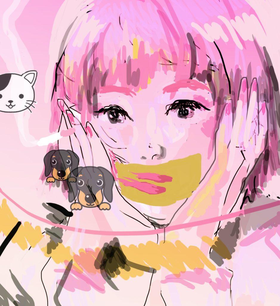 「かわいいにゃん」 2015年5月作成 (WEB小説:「煩悩サンスクリット」挿絵)