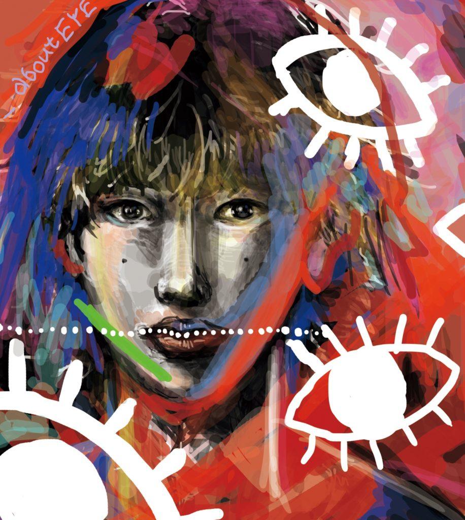 「瞳のエロス」 2015年 9月作成 (演劇キック:「小野寺ずるのお散歩エロジェニック」連載イラスト)