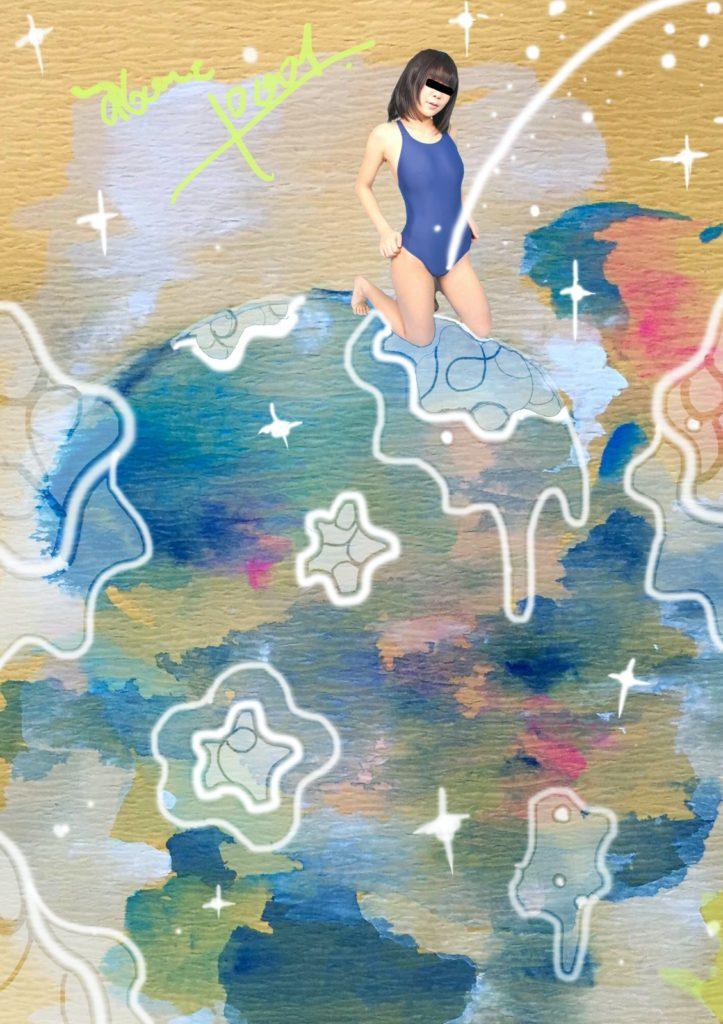「プールのエロス」 2015年11月作成 (演劇キック:「小野寺ずるのお散歩エロジェニック」連載イラスト)