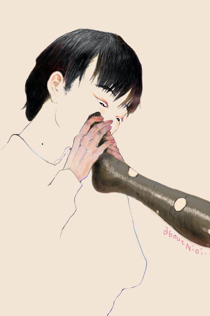 「匂いのエロス」 2016年4月作成 (演劇キック:「小野寺ずるのお散歩エロジェニック」連載イラスト)