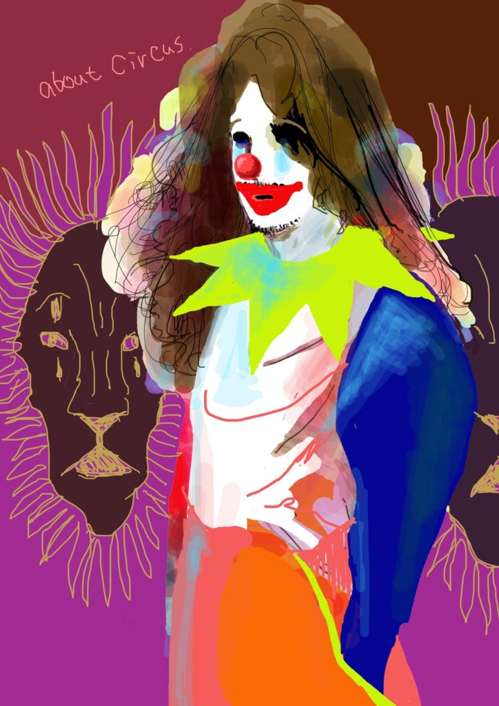 「サーカスのエロス」 2016年6月作成 (演劇キック:「小野寺ずるのお散歩エロジェニック」連載イラスト)